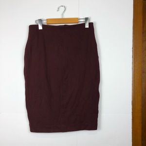 Wilfred Cabernet fitted skirt Sz L